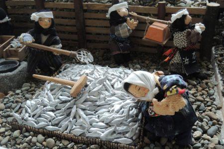 ニシン漁の最盛期を再現したジオラマ「白鳥番屋」